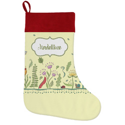 Nature Inspired Holiday Stocking w/ Name or Text