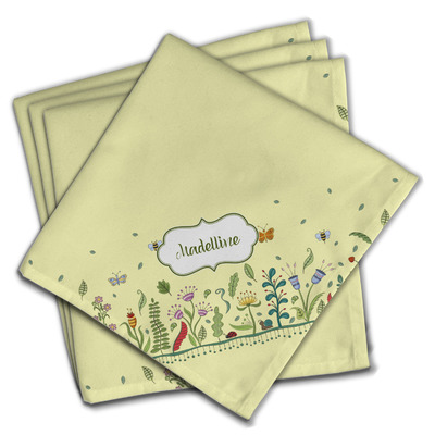 Nature Inspired Cloth Napkins (Set of 4) (Personalized)