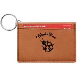 Nature Inspired Leatherette Keychain ID Holder (Personalized)