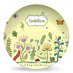 Nature Inspired Microwave Safe Plastic Plate - Composite Polymer (Personalized)