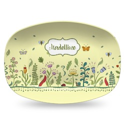 Nature Inspired Plastic Platter - Microwave & Oven Safe Composite Polymer (Personalized)