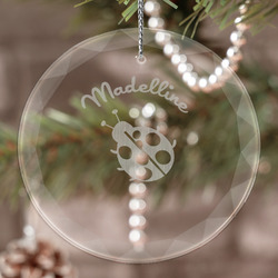 Nature Inspired Engraved Glass Ornament (Personalized)