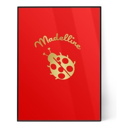 Nature Inspired 5x7 Red Foil Print (Personalized)