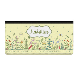 Nature Inspired Genuine Leather Checkbook Cover (Personalized)