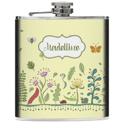 Nature Inspired Genuine Leather Flask (Personalized)