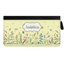 Nature Inspired Genuine Leather Ladies Zippered Wallet (Personalized)