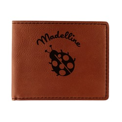 Nature Inspired Leatherette Bifold Wallet (Personalized)