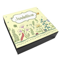 Nature Inspired Leatherette Keepsake Box - 8x8 (Personalized)
