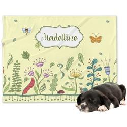 Nature Inspired Minky Dog Blanket - Large  (Personalized)