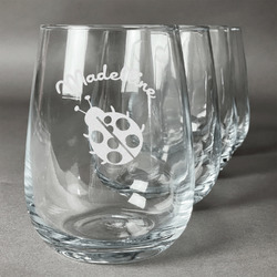 Nature Inspired Wine Glasses (Stemless Set of 4) (Personalized)