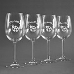 Nature Inspired Wine Glasses (Set of 4) (Personalized)