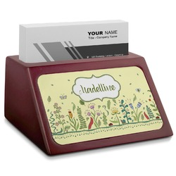 Nature Inspired Red Mahogany Business Card Holder (Personalized)