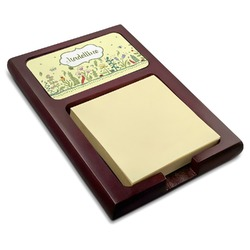 Nature Inspired Red Mahogany Sticky Note Holder (Personalized)