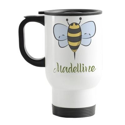Nature Inspired Stainless Steel Travel Mug with Handle