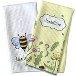 Nature Inspired Waffle Weave Kitchen Towel (Personalized)