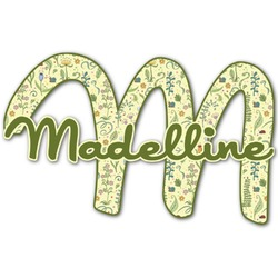 Nature Inspired Name & Initial Decal - Custom Sized (Personalized)