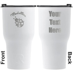 Nature Inspired RTIC Tumbler - White - Engraved Front & Back (Personalized)
