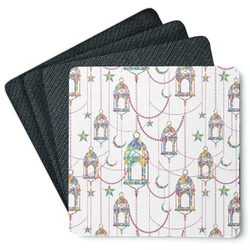 Moroccan Lanterns 4 Square Coasters - Rubber Backed (Personalized)
