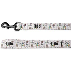 Moroccan Lanterns Deluxe Dog Leash - 4 ft (Personalized)