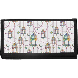 Moroccan Lanterns Canvas Checkbook Cover (Personalized)