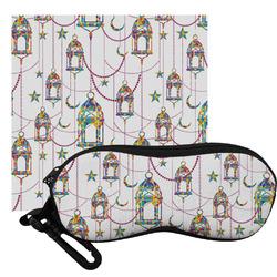 Moroccan Lanterns Eyeglass Case & Cloth
