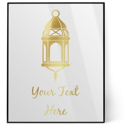 Moroccan Lanterns 8x10 Foil Wall Art - White (Personalized)
