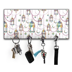 Moroccan Lanterns Key Hanger w/ 4 Hooks (Personalized)