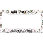 Moroccan Lanterns License Plate Frame (Personalized)