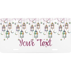 Moroccan Lanterns Front License Plate (Personalized)