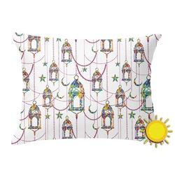 Moroccan Lanterns Outdoor Throw Pillow (Rectangular) (Personalized)