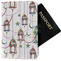 Moroccan Lanterns Passport Holder - Fabric (Personalized)