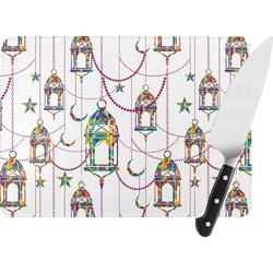 Moroccan Lanterns Rectangular Glass Cutting Board (Personalized)
