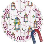Hanging Lanterns Round Fridge Magnet