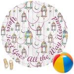Moroccan Lanterns Round Beach Towel (Personalized)