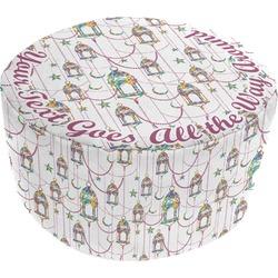 Moroccan Lanterns Round Pouf Ottoman (Personalized)