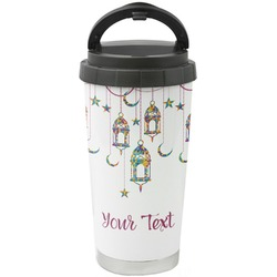 Moroccan Lanterns Stainless Steel Travel Mug (Personalized)