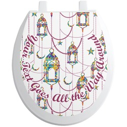 Moroccan Lanterns Toilet Seat Decal (Personalized)