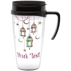 Moroccan Lanterns Travel Mug with Handle (Personalized)