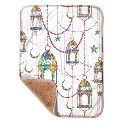 """Moroccan Lanterns Sherpa Baby Blanket 30"""" x 40"""" (Personalized)"""