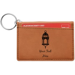 Moroccan Lanterns Leatherette Keychain ID Holder (Personalized)