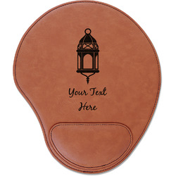 Moroccan Lanterns Leatherette Mouse Pad with Wrist Support (Personalized)