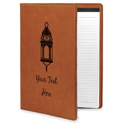 Moroccan Lanterns Leatherette Portfolio with Notepad (Personalized)