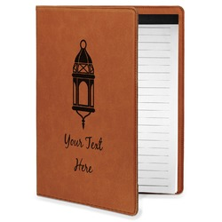 Moroccan Lanterns Leatherette Portfolio with Notepad - Small - Single Sided (Personalized)