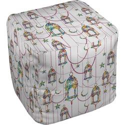 Moroccan Lanterns Cube Pouf Ottoman (Personalized)