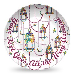 Moroccan Lanterns Microwave Safe Plastic Plate - Composite Polymer (Personalized)