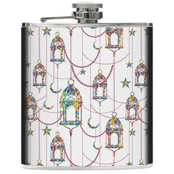 Moroccan Lanterns Genuine Leather Flask (Personalized)