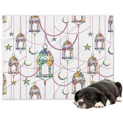 Moroccan Lanterns Minky Dog Blanket - Large  (Personalized)