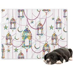 Moroccan Lanterns Minky Dog Blanket (Personalized)