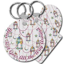 Moroccan Lanterns Plastic Keychains