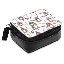 Moroccan Lanterns Small Leatherette Travel Pill Case (Personalized)